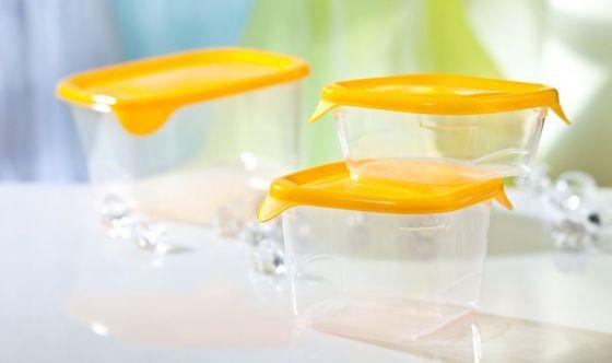 Conservare il cibo nei contenitori di plastica