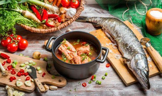 Anche pasta, carne e pesce