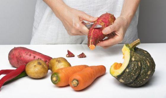 Patate dolci, zucca e carote per i capelli secchi