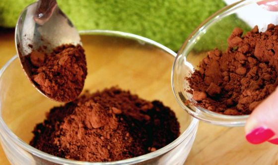 Maschera purificante al cacao e caffè