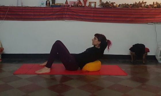 Pilates facile col cuscino