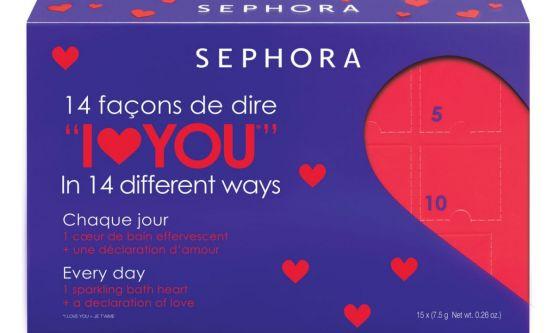 Valentine's day Calendar of Love Blue Lilac Sephora