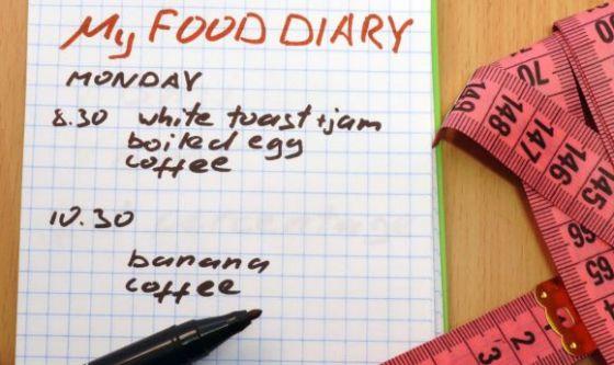 L'importanza del diario alimentare
