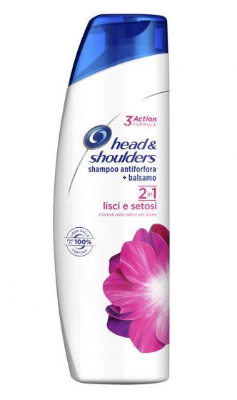 Shampoo headshoulders Lisci e setosi 2in1