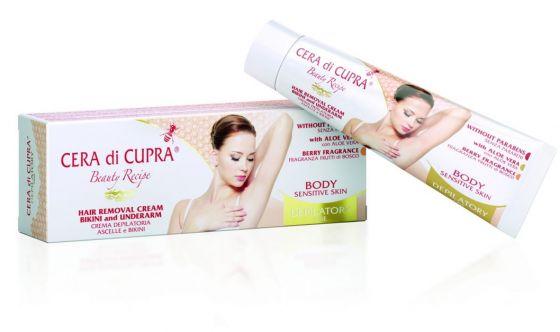 Crema depilatoria ascelle e bikini Cera di Cupra