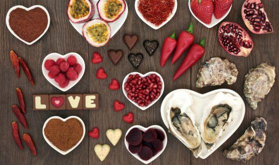 Cibi afrodisiaci a San Valentino non possono mancare