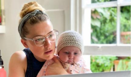 Amber Heard mamma... a sorpresa