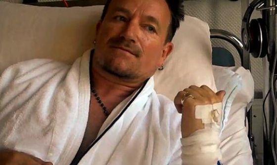Dopo caduta in bici per Bono addio alla chitarra?