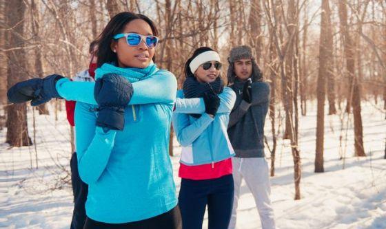 D'inverno si all'attività sportiva, ma con precauzioni