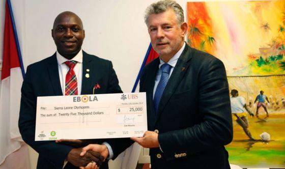 Atleti contro l'Ebola