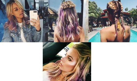 Gli hair look di Veronica Ferraro al Coachella