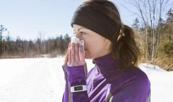È possibile allenarsi con il raffreddore?