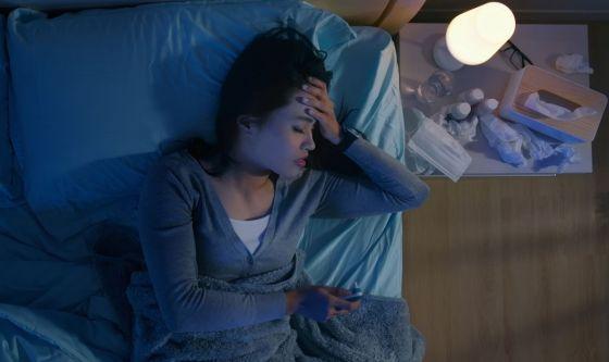 Influenza e raffreddore fanno perdere il sonno