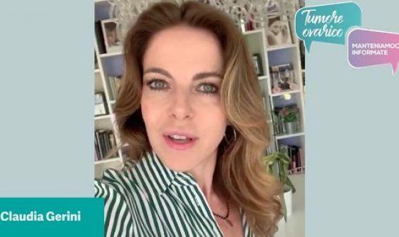 Claudia Gerini contro il tumore ovarico