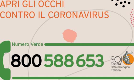 Apri gli occhi contro il coronavirus