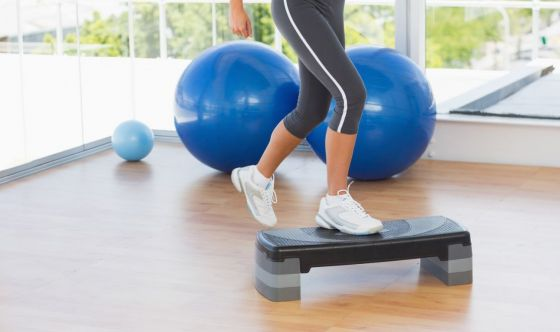 Home fitness: lo step