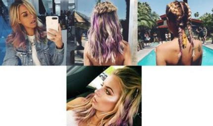 Gli hair look di Veronica Ferraro al Coachella
