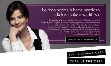 Laura Morante testimonial contro l'osteoporosi