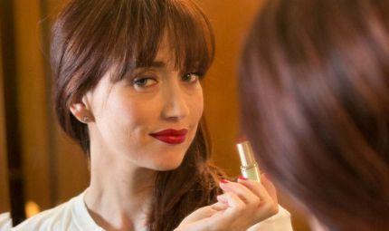 Labbra in primo piano per l'attrice Chiara Francini