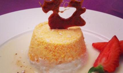 Mousse di carote e cocco con salsa all'anice
