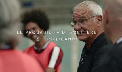 Claudio Ranieri testimonial per la disassuefazione dal fumo