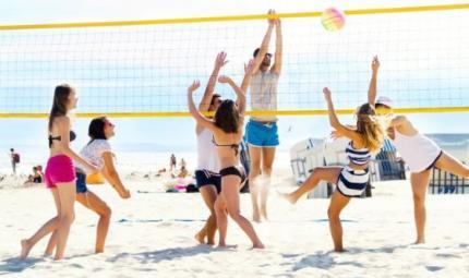 Solo il bello degli sport di spiaggia