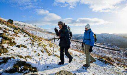 Trekking d'inverno: c'è anche lo smartphone che ti guida