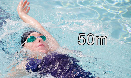 Nuoto - 50 m dorso