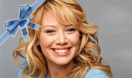 Fiocco azzurro per Hilary Duff