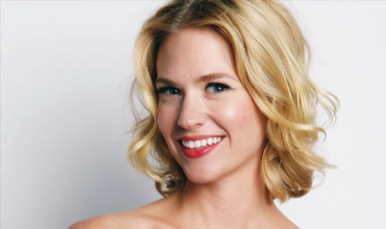 January Jones: di nuovo in forze con la placenta