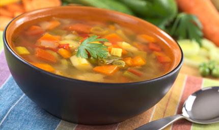 Coccolarsi con una zuppa