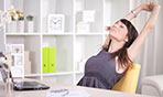 Stretching in ufficio