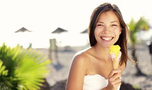 Mangiare il gelato rende felici