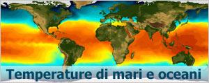 Le temperature dei mari e degli oceani